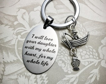 WD2, Father of the Bride Keychain, Mother of the Bride Key Chain, Gift for Mother of the Bride, Dad of Bride Key Chain, Keychain, FOB Gifts