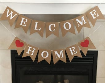 Welcome Home Banner, Military Homecoming, Homecoming Party Banner, Welcome Home Sign, Deployment Homecoming Banner, New Home, Housewarming