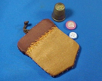 Antique Pin Cushion, Pin Wheel, Silk Acorn, Sewing Pincushion