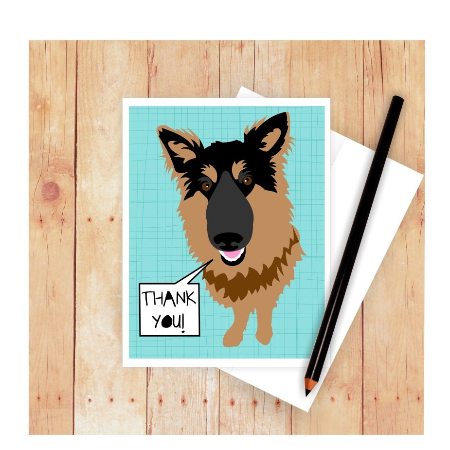 German shepherd thank you card happy fathers day card zoom m4hsunfo