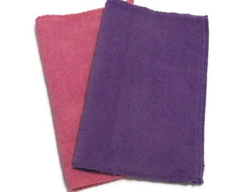 Microfiber Swiffer Sweeper Pads- Set of 2- PINK & PURPLE Color Combo- Refill- Reusable- Ecofriendly