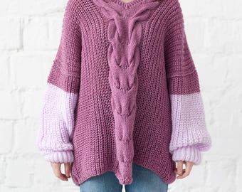 Jumper Pullover Oversized sweater Loose knit sweater Plus size top sweater Baggy sweater Slouchy pullover pregnancy women cozy sweater