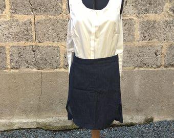 Jean skirt, short skirt, blue skirt, short denim skirt, skirt, mini skirt, blue, blue jeans, skirt blue jeans, size 42, denim, jean