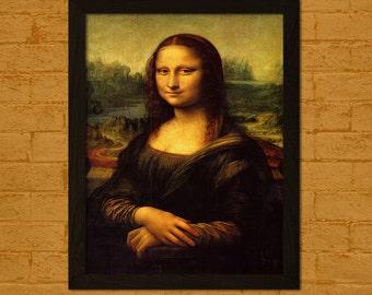 Mona Lisa Reproduction Print - Da Vinci Print Fine Art Print Da Vinci Poster Mona Lisa Poster Prints Da Vinci Art   Reproduction