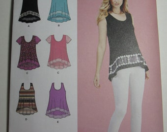 Simplicity Sewing Pattern 1113 Misses' Knit Tops Sizes XXS-XXL New and uncut pattern.