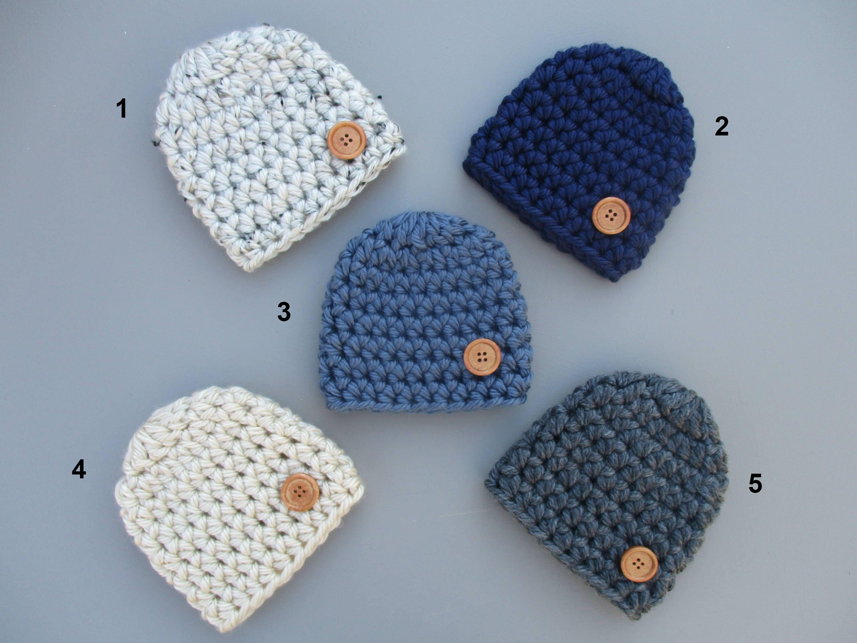 Baby Boy Hat Crochet Baby Hat Baby Boy Beanie Chunky Baby