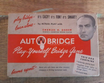 Vintage 1950's Autobridge play-yourself Bridge game