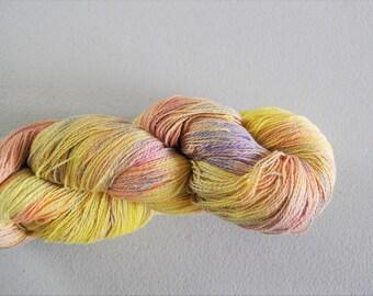 Buttercup.  Handpainted 8/2 Fine Cotton Yarn