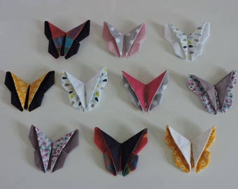 Butterfly folding origami on 45mm Alligator Clip
