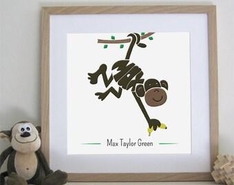Cheeky Monkey Print - Personalised
