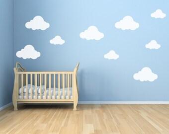 Vinyl Clouds - Vinyl Cloud Decals - Cloud Decals for Walls 0047