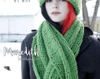 MEREDITH - Hat & Extra-Long Scarf Set