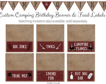 Camping Birthday Printables