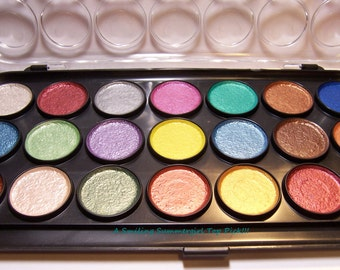 21 Color Pearlescent Metallic Watercolor Paint Set Add Shimmer and Dimension to Art