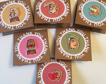 Mini thank you notes - Thank you mini notes - Mini notes thank you assortment