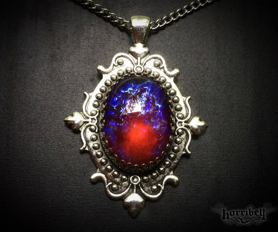 Dragons breath glass fire opal necklace mexican fire aloadofball Choice Image