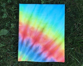 "Rainbow Tie Dye Canvas 8"" x 10"""