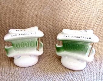 Vintage Shakers San Francisco - Collectibles San Francisco - Cable Car Shakers - San Francisco Souvenir - 1960 collectibles