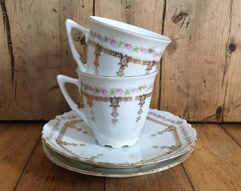 Bavaria demi tasse cups and saucers made in Germany, vintage china