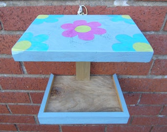 Painted bird feeder / table to attach to a wall (10% of every sale to RSPB)