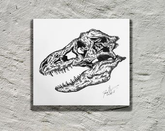 Tyrannosaurus Rex Skull Print