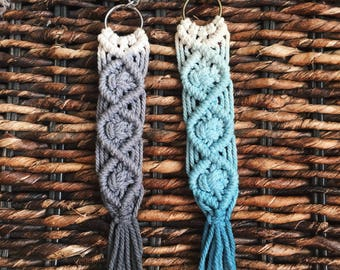 Macrame Dip-Dyed Keychain {free shipping}