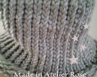 snood XXL child grey knit