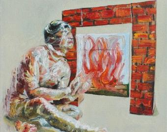 Comfort II, Collaborative Oil Painting