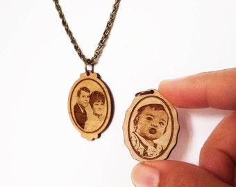 Portrait Necklace (custom engraving)