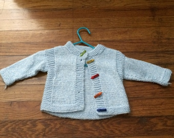 adorable vintage handmade crayola baby sweater
