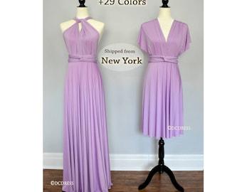 Lilac Bridesmaid dress, convertible dresses, beach dress, infinity dress, party dress, multiway dress, prom evening dress, cocktail