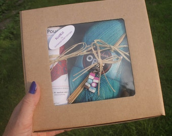 Sock KnitKit - all you need to knit a pair of socks with project bag and gift box.