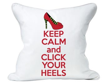 Keep Calm and Click Your Heels digital file: svg, dxf, eps, jpg+ - Gift for her, Wizard of Oz, Ruby Slipper, shirt, mug, wine glass, art