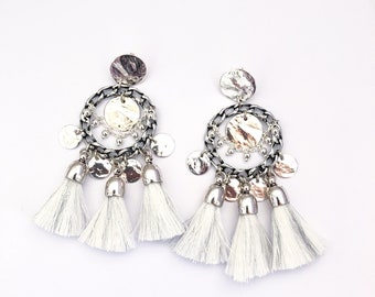 Limited Edition - Earrings NOLA white/silver
