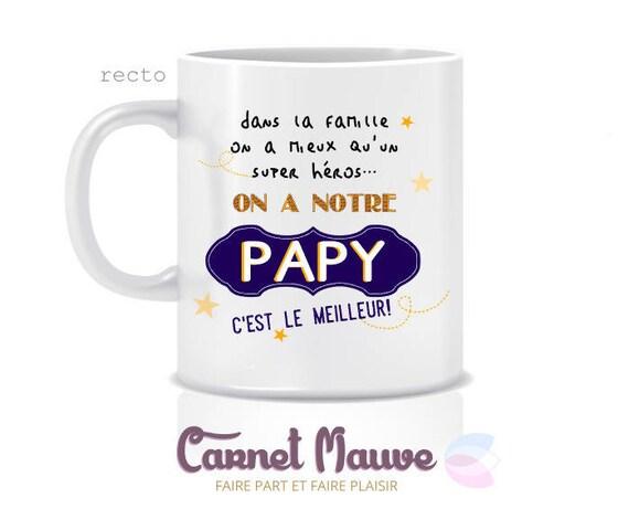 cadeau papy f te des grands p res mug papy c 39 est le. Black Bedroom Furniture Sets. Home Design Ideas