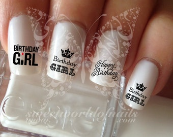 Happy birthday Water Decals Birthday girl Transfers Wraps