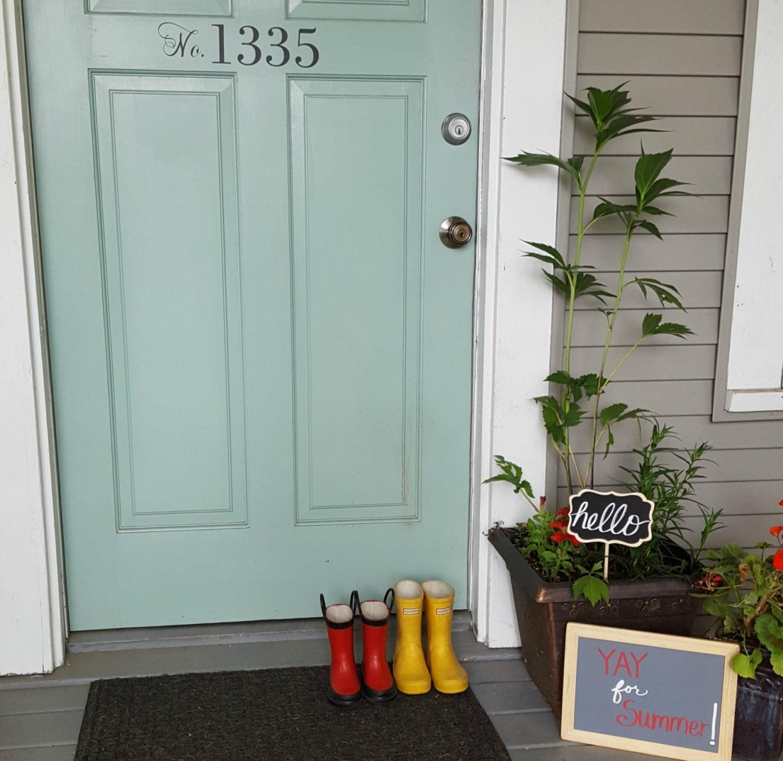 Address DecalFront Door AddressFront Door DecalMailbox