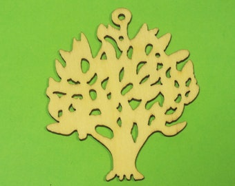 Baltic wood APPLIQUE: Tree 60 * 45 mm, 1.5 mm thick
