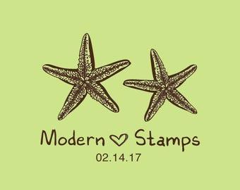 Wedding Stamp   Custom Wedding Stamp   Custom Rubber Stamp   Custom Stamp   Personalized Stamp   Starfish Stamp   C247