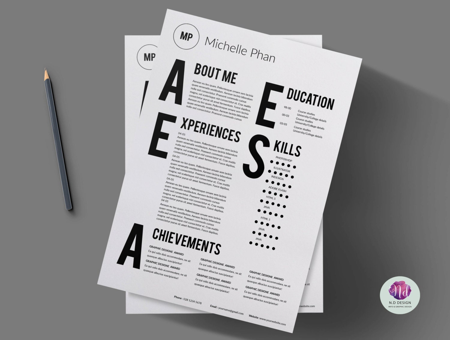 CV template/ cover letter/resume template/creative resume /