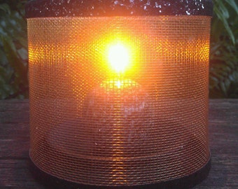 Wire mesh lampshades verolampshades candle holder luminary fire lampshade bronze screen romantic modern keyboard keysfo Gallery