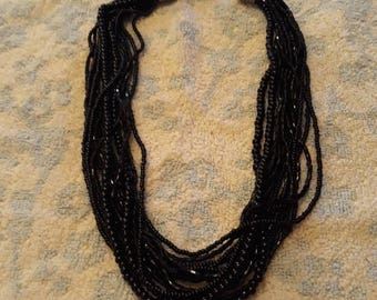 Vintage Multistrand Beaded Necklace By M And S