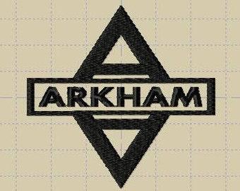 Arkham Asylum Logo Embroidery *Design Only*