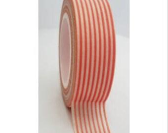 Washi tape (washi) - striped orange