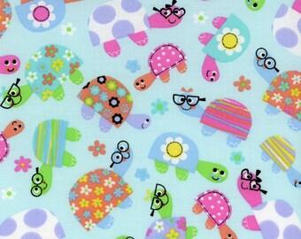 Cute Turtles Fabric Blue Turtle Print - Galaxy Tweetie Pie Fabric - 100% Cotton - By the Yard
