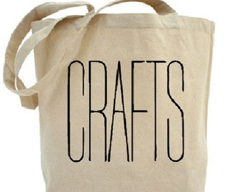 CRAFTS - Craft Tote - Cotton Canvas Tote Bag - Gift Bags