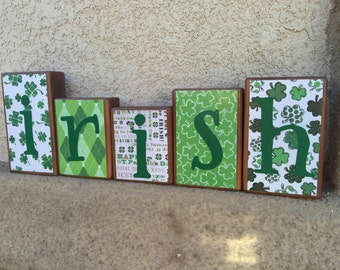 St. Patrick's Day blocks - irish