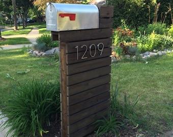 Modern Mailbox - Dark Walnut