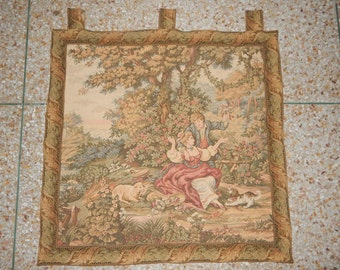 Vintage French Romance Beautiful Tapestry 056