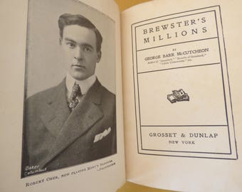Brewster's Millions - George Barr McCutcheon - Hardcover 1902 Volume - Clean - Collectible - Suitable for Gifting - Inscribed - 307 Pages